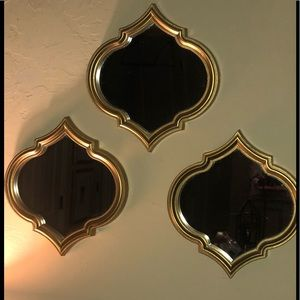 Other - Gold Wall Mirrors - Set of 3